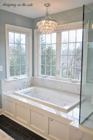 bathroom crystal light fixtures master bath marble tile sw rain crystal chandelier tile that