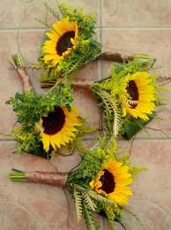sunflower bouquets image result for sunflower wheat lavender and white