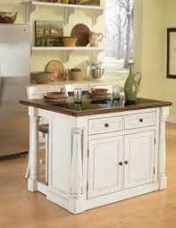two island kitchen home styles monarch granite top kitchen island with two stools