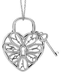 heart necklace with key images Tiffany co stunning filigree heart key pendant necklace charm jpg