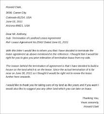 sample landlord lease termination letter 4 documents in word pdf