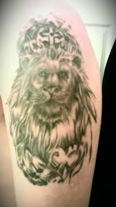 lion with crown and heart tattoo pictures to pin on pinterest