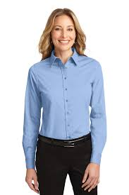 light blue button down shirt women s port authority ladies long sleeve easy care shirt womens button down