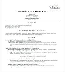 resume template for students resume sle high school student