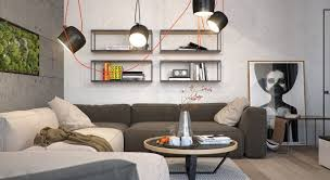 Industrial Look Living Room by The First Apartment Nestles A Small Wall Garden In The Living Room
