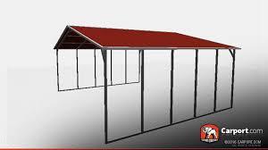 26 u0027 x 21 u0027 triple wide open steel carport shop metal buildings