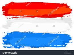 Flag Of Netherlands Vector Illustration Flag Netherlands Painted Brush Stock Vector