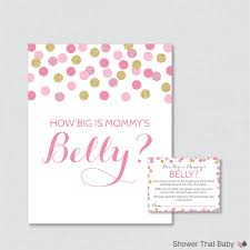 how big is mommy u0027s belly game printable baby shower pink