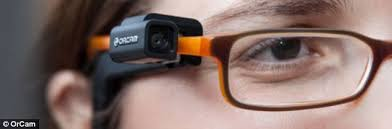 Sunglasses For Blind People Orcam Headset Recognises Faces Objects And Reads Words Aloud