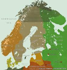 map of europe scandinavia of scandinavia ad 1581