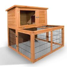 Rabbit Hutch Makers 2 Storey Fir Wood Rabbit Hutch W Large Under Run Buy Rabbit Hutches