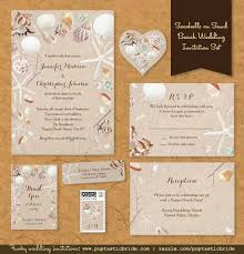 beachy wedding invitations new seashells on sand wedding invitation set free