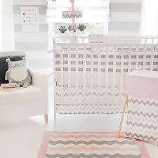 Gray Chevron Crib Bedding Surprising Gray And Pink Bedding Sets Grey Chevron Baby Stock