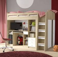 Kid Station Computer Desk by High Sleeper Bed With Wardrobe Kids Cabin Bed Sale