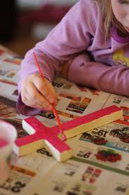 easy mosaic cross craft reading confetti