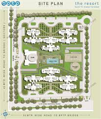 resort floor plan bptp group flats project the resort site plan layout plan faridabad