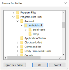 android developer kit android sdk setup xamarin