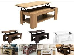 Lift Top Coffee Tables Storage Caspian Lift Up Top Coffee Table With Storage Espresso Oak