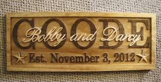 Personalized Wedding Plaque Personalized Sign Carved Custom Wood Last Name Couples Wedding