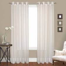 Crushed Voile Sheer Curtains by Venetian Crushed Voile Grommet Top Panel Pairs Curtainshop Com