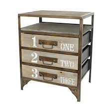 Metal Nightstands With Drawers Shop Cheung S Light Grey Metal Nightstand At Lowes