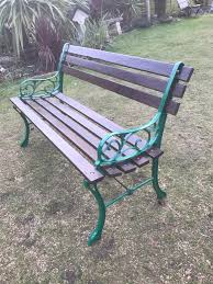 restored garden bench cast iron ends can deliver in norwich