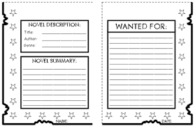 wanted poster book report project templates worksheets rubric