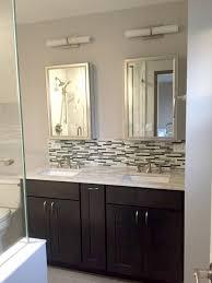 bathroom tile backsplash ideas glass tile backsplash in best glass tile backsplash in bathroom