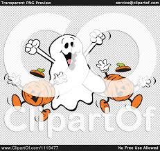 happy halloween background png cartoon of a happy halloween ghost with jackolanterns royalty