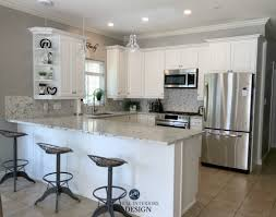 paint color in kitchen with white cabinets e design an oak cabinet makeover with white dove m