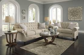 Tufted Sofa And Loveseat by Traditional Loveseat With Tufted Back And Feather Blend Accent