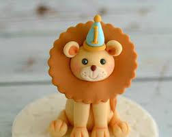lion cake topper fondant lion etsy
