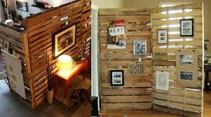 decor reclaimed wood wall partition design photos and console
