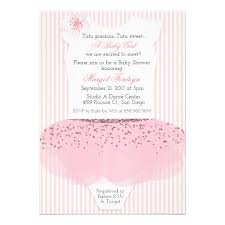 ballerina baby shower invitations tutu ballerina baby shower invitation zazzle