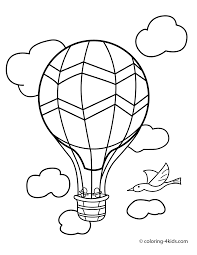 balloon transportation coloring pages aerostat for kids printable