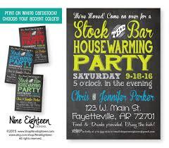 stock the bar party stock the bar housewarming party invitation custom printable pdf