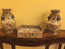 Reproduction Chinese Vases Vintage Reproduction Yellow Antique Chinese Vases Ebay