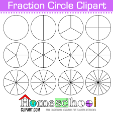 free fraction circle clipart use these to make your own set of