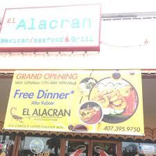 el alacran sea food home winter garden florida menu prices