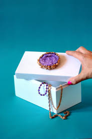 Geode Ring Box Make A Crystal Topped Jewelry Box Etsy Journal