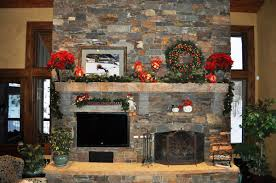 fireplace decoration decorations simple and cheap rustic stone fireplace christmas