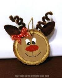 wood slice reindeer ornaments reindeer ornaments ornament and woods