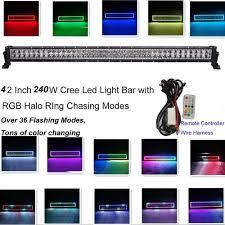 Led Light Bar 12v by 240w 42inch Led Light Bar 12v 24v With Rgb Halo Ring 300 Flashing