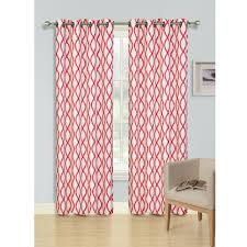window curtain decorative grommet harper collection abstract