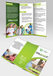 elegant traditional brochure design for trio home health care of