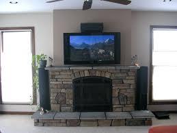 installing flat screen tv above gas fireplace mounting brick hang