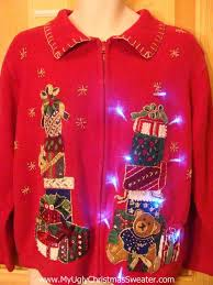 to buy christmas sweaters red light up sweater with bear
