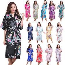 kimono robe de chambre satin de soie de mariage mariée demoiselle d honneur robe floral