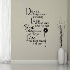 dance love sing live wall sticker by mirrorin notonthehighstreet com dance love sing live wall sticker