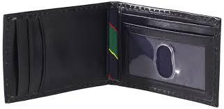 tommy hilfiger men u0027s slim front pocket wallet black one size at